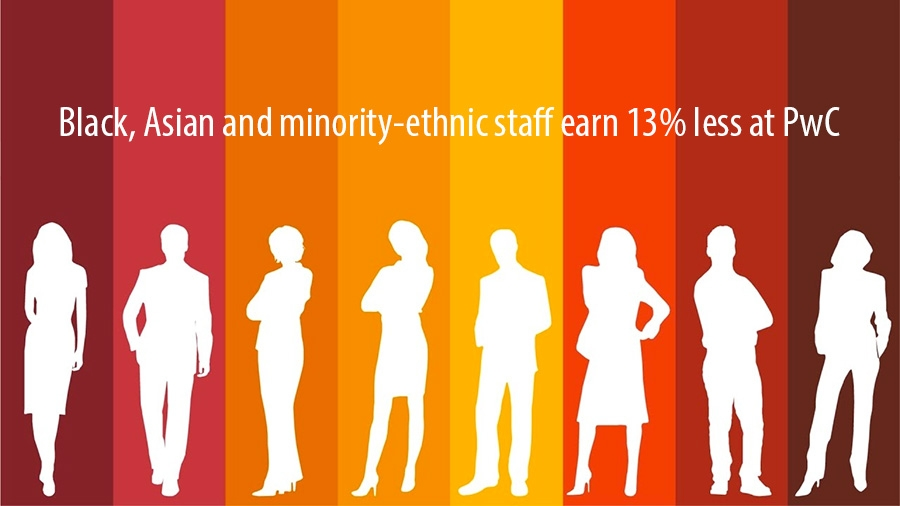 Black, Asian and minority-ethnic staff earn 13 percent less at PwC