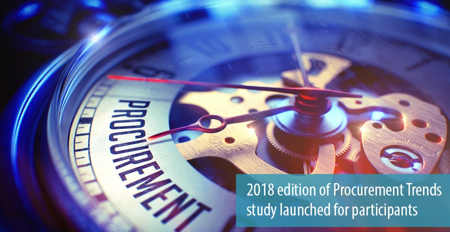 2018 edition of Procurement Trends  study launched for participants
