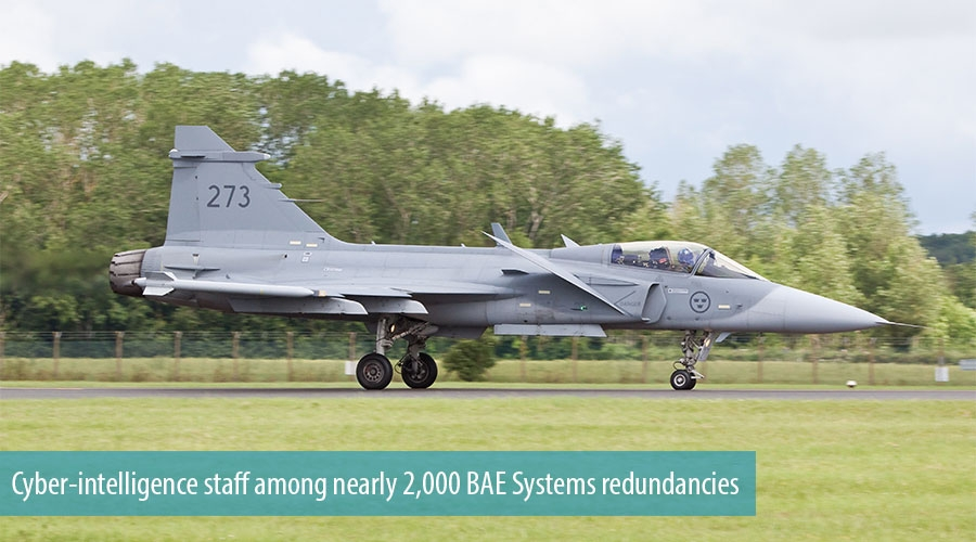 Cyber-intelligence staff among nearly 2,000 BAE Systems redundancies
