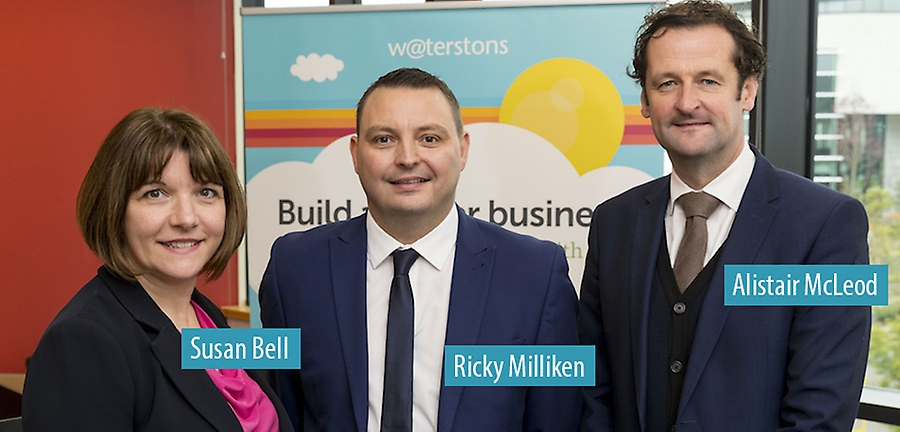 Susan Bell - Ricky Milliken and Allistair McLeod - Waterstons