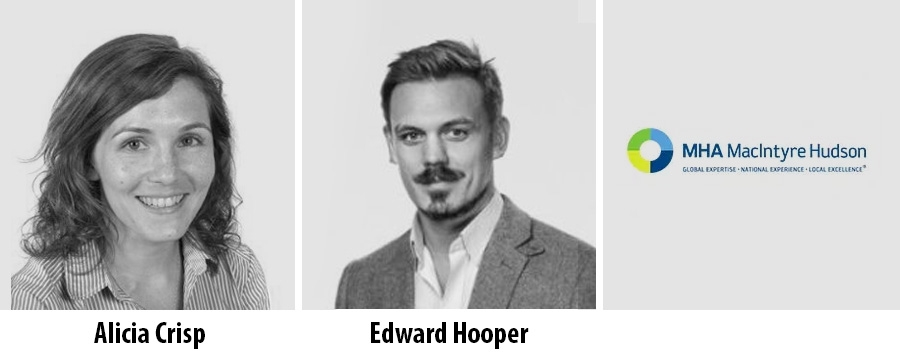 Alicia Crisp and Edward Hooper join MHA MacIntyre Hudson in London