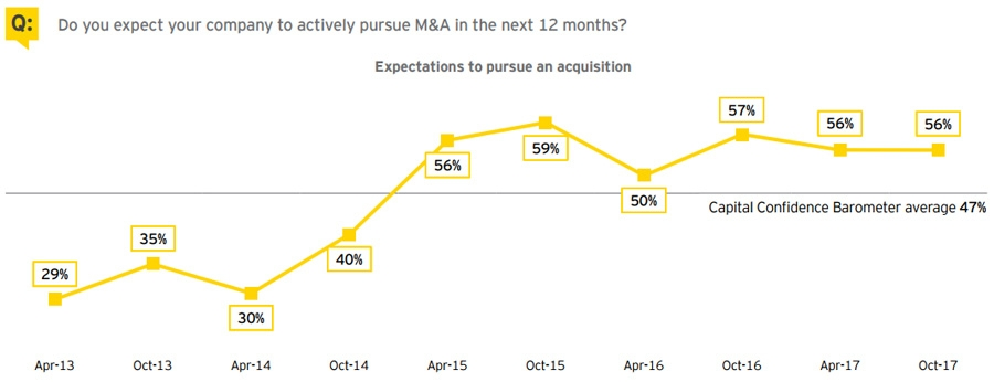 Pursue M&A in the next 12 months