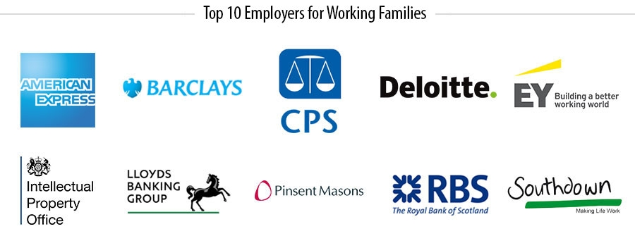 Top 10 Employers for working families