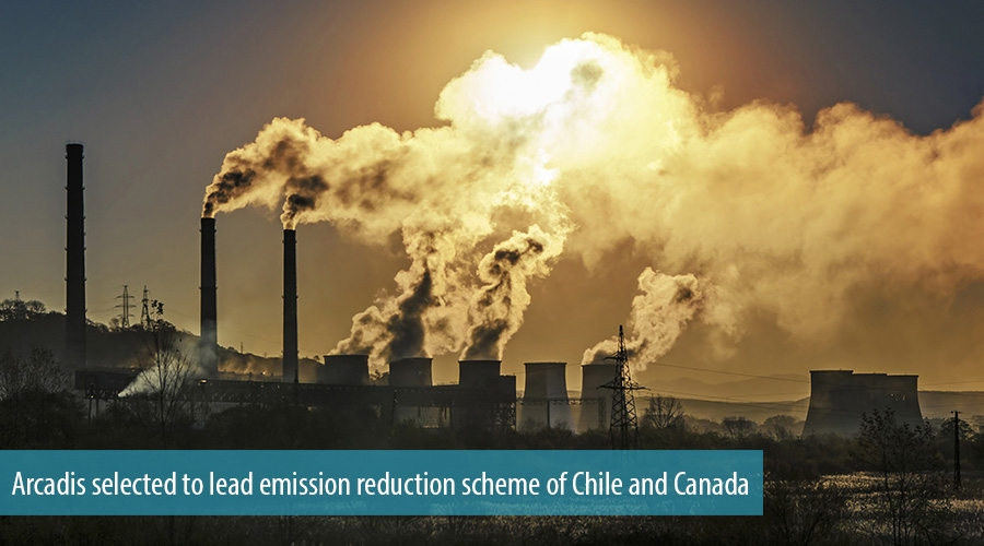 Arcadis selected to lead emission reduction scheme of Chile and Canada