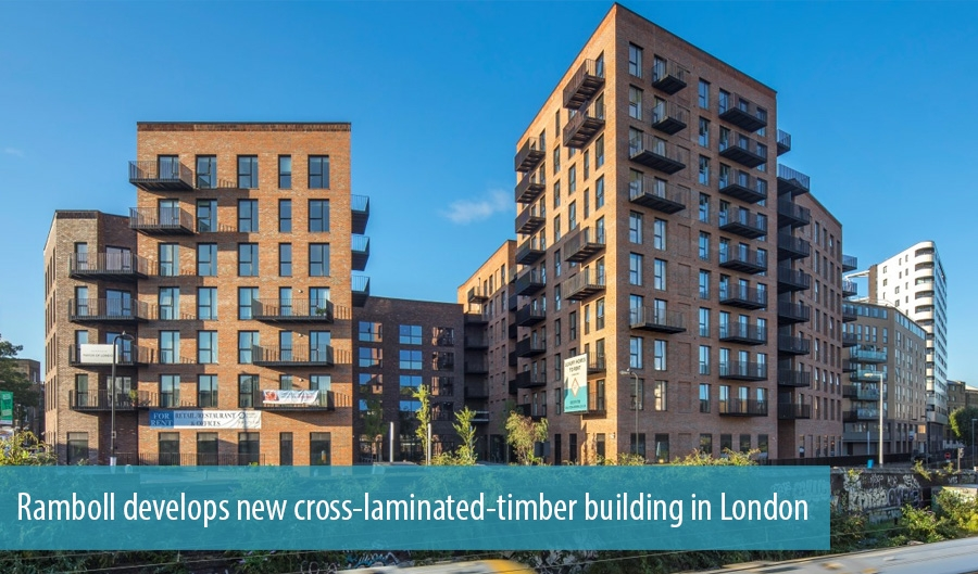 Ramboll develops new cross-laminated-timber building in London