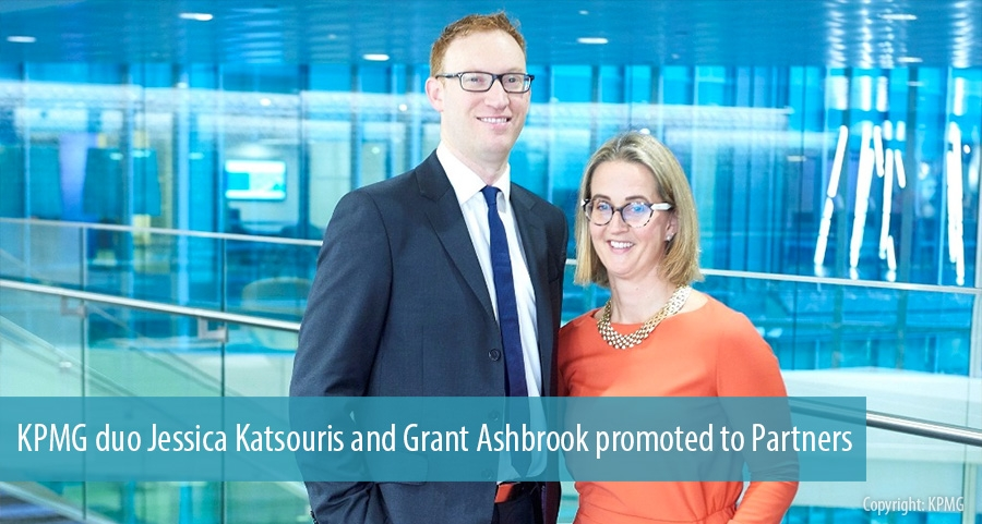KPMG duo Jessica Katsouris and Grant Ashbrook promoted to Partners