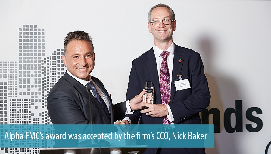 Alpha FMC's award was accepted by the firm's CCO, Nick Baker