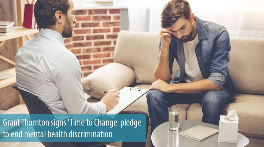 Grant Thornton signs 'Time to Change' pledge to end mental health discrimination