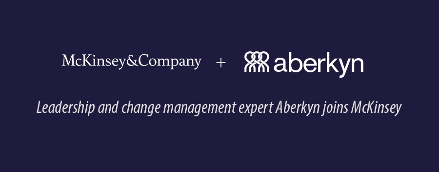 Leadership and change management expert Aberkyn joins McKinsey