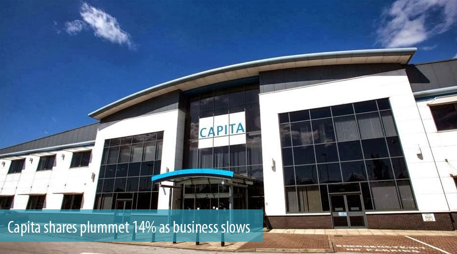 Capita shares plummet 14% as business slows