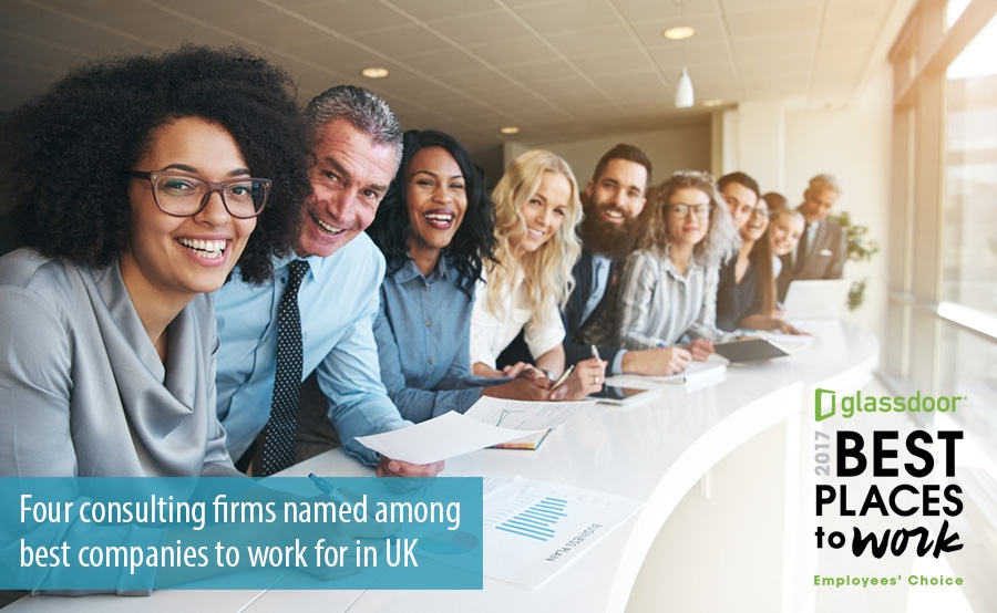 Four consulting firms named among best companies to work for in UK