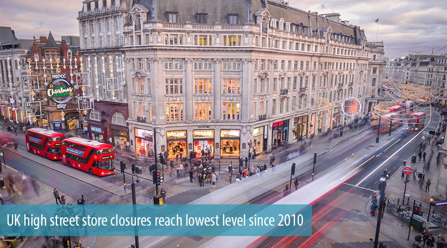 UK high street store closures reach lowest level since 2010