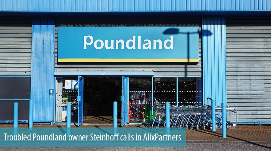 Troubled Poundland owner Steinhoff calls in AlixPartners