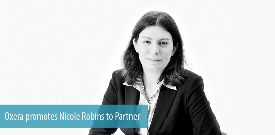 Oxera promotes Nicole Robins to Partner
