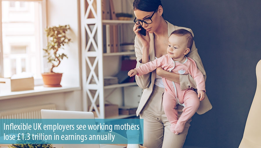 Inflexible UK employers see working mothers lose £1.3 trillion in earnings annually