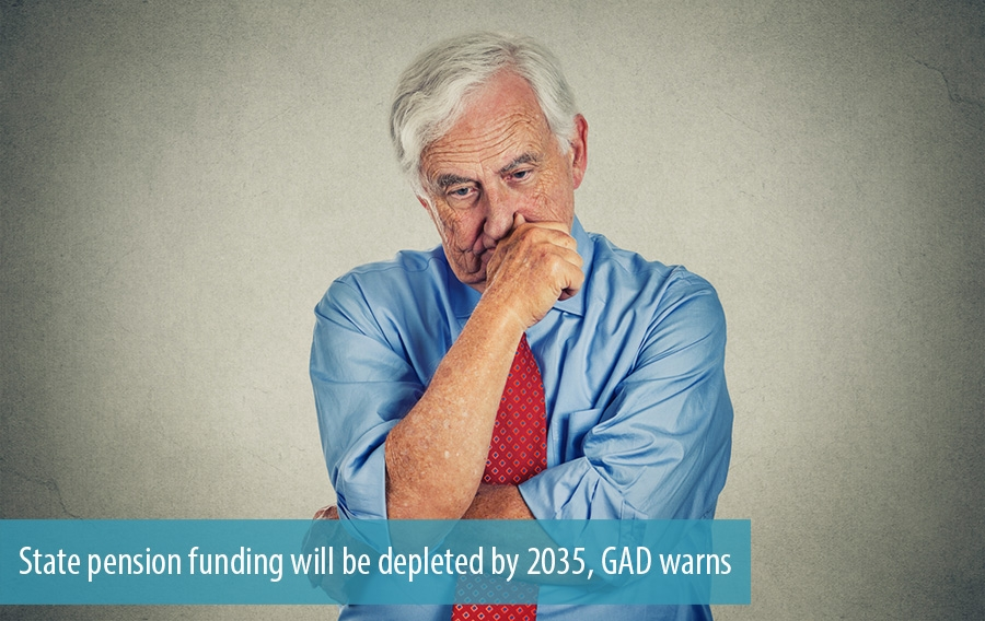 State pension funding will be depleted by 2035, GAD warns