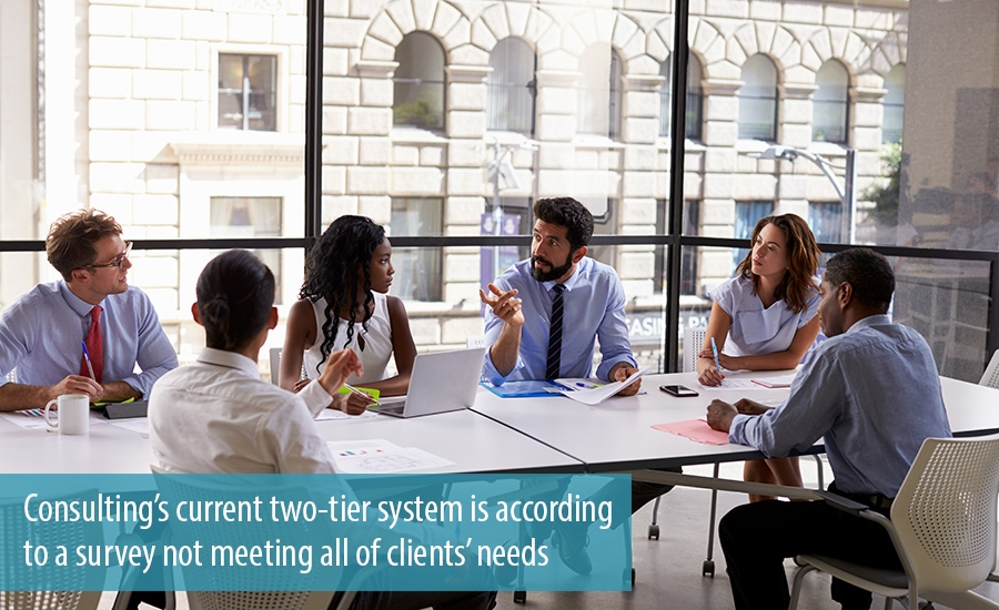 Two-tier system is not meeting all of clients needs