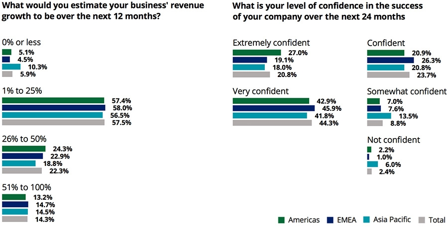 Revenue growth and confidence levels