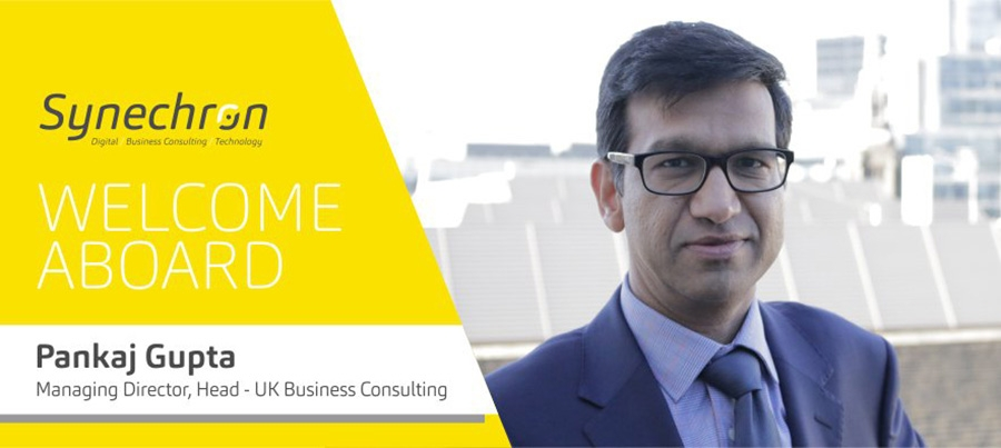 Pankaj Gupta appointed to lead Synechron's UK business consulting team