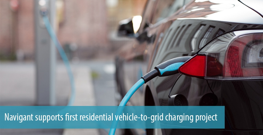 Navigant supports first residential vehicle-to-grid charging project