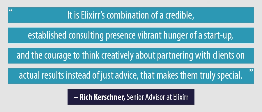 Quote Rich Kerschner, Senior Advisor at Elixirr