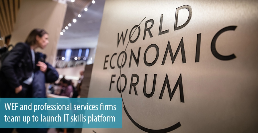 WEF and professional services firms team up to launch IT skills platform