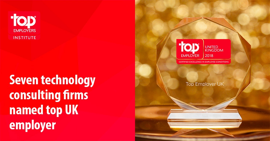 Seven technology consulting firms named top UK employer