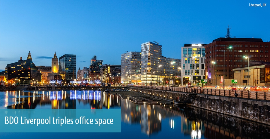 BDO Liverpool triples office space