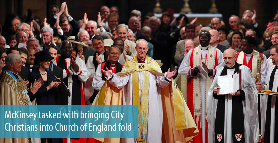 McKinsey tasked with bringing City Christians into Church of England fold