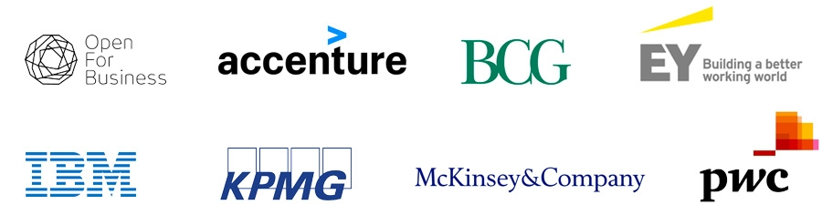 Open for Business coalition, Accenture, BCG, EY, IBM, KPMG, McKinsey, PwC