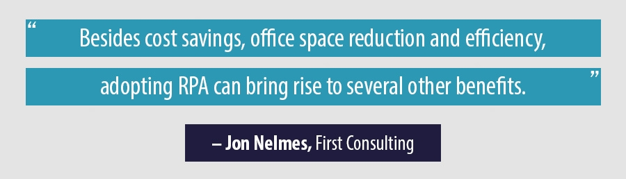 Quote from Jon Nelmes, initial consultation