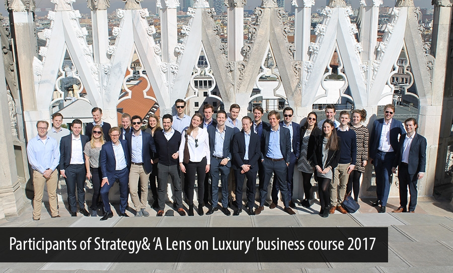 Participants of Strategy& 'A Lens on Luxury' business course 2017