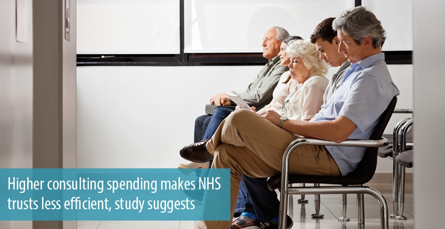 Higher consulting spending makes NHS trusts less efficient, study suggests