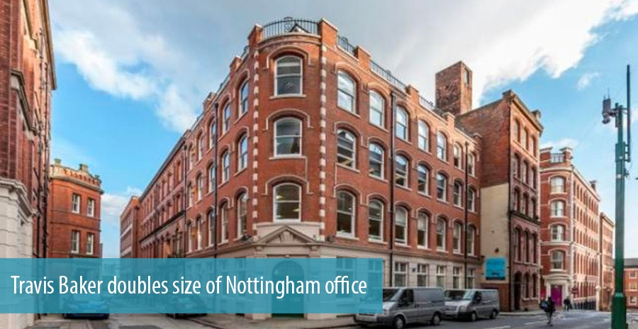 Travis Baker doubles size of Nottingham office