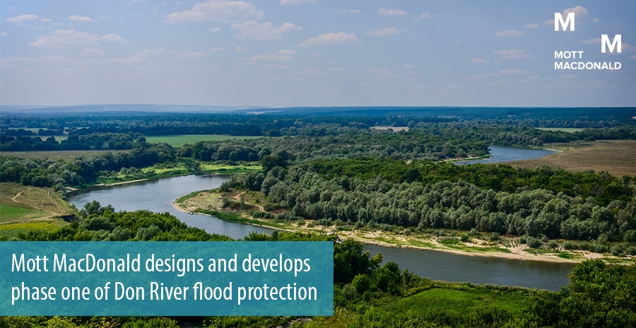 Mott MacDonald designs and develops phase one of Don River flood protection