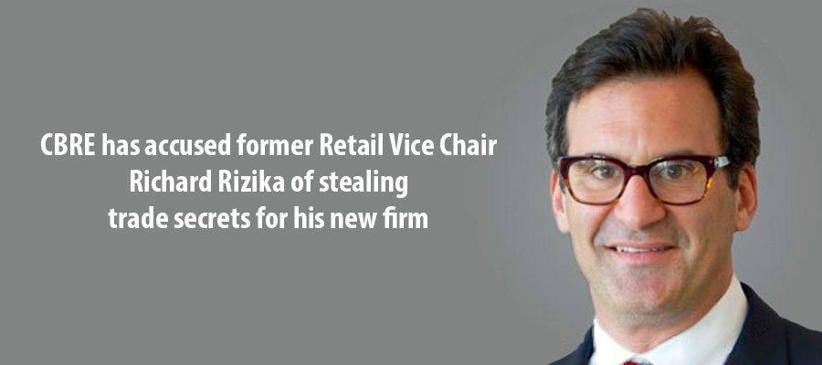 CBRE has accused former Retail Vice Chair  Richard Rizika