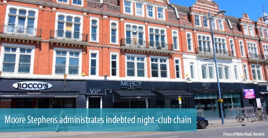 Moore Stephens administrates indebted night-club chain