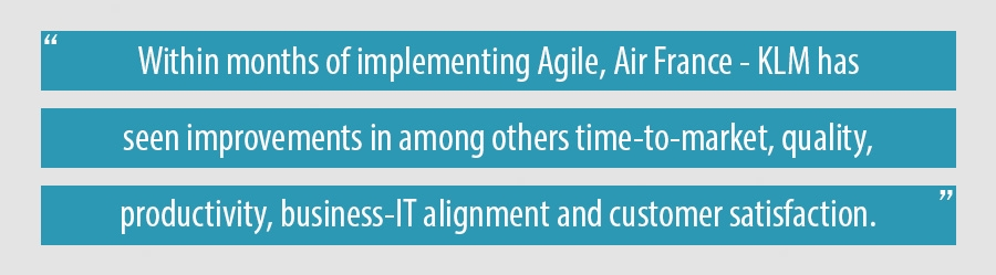 Within months of implementing Agile