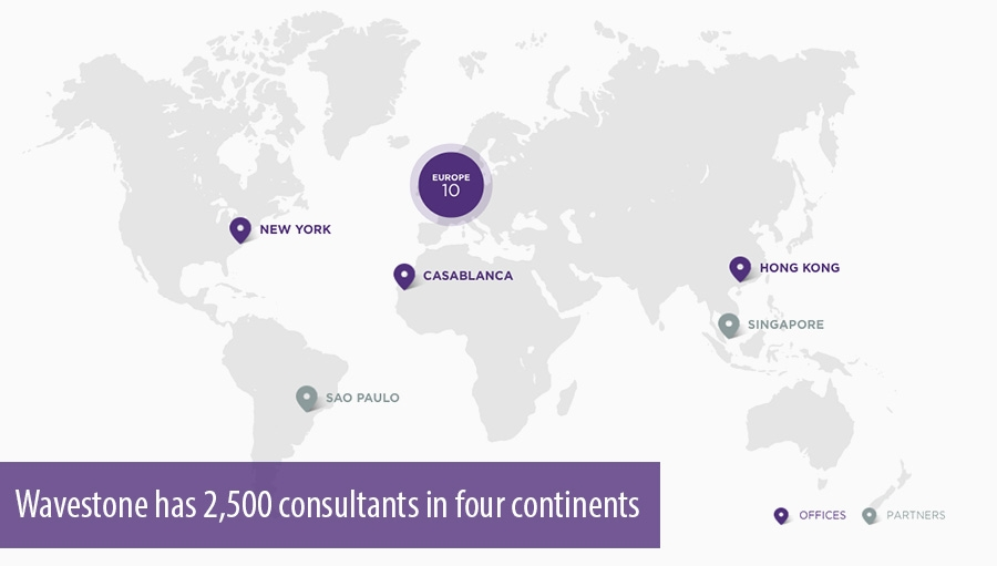 Wavestone has 2,500 consultants in four continents