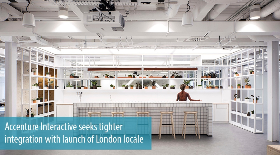 Accenture interactive seeks tighter integration with for Accenture london office