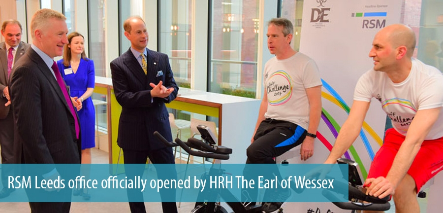 RSM Leeds office officially opened by HRH The Earl of Wessex
