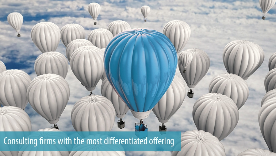 Consulting firms with the most differentiated offering
