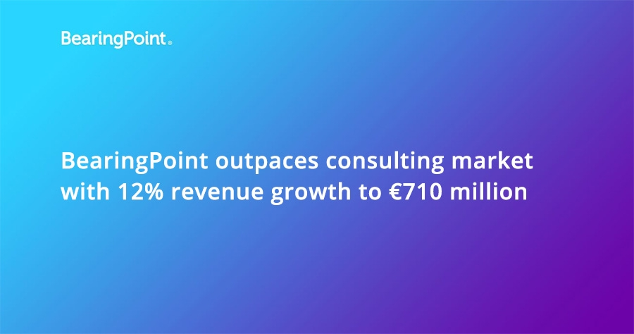 BearingPoint outpaces consulting market with 12% revenue growth to €710 million