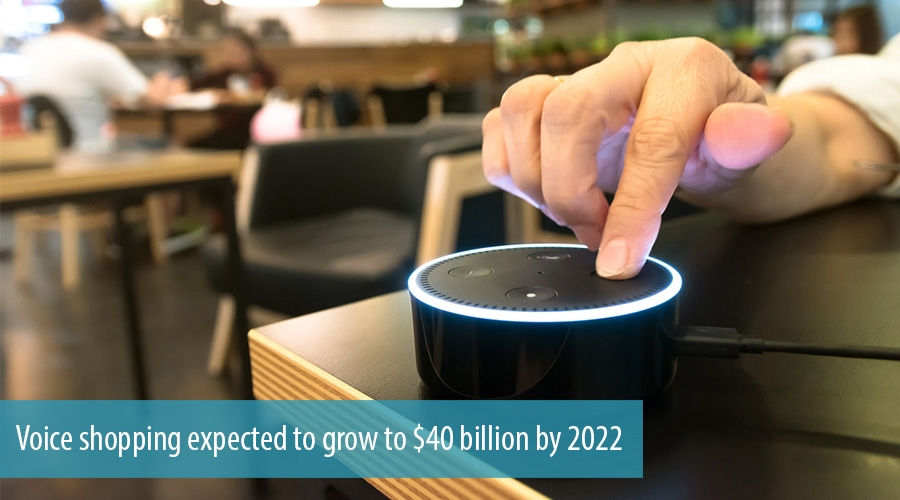Voice shopping expected to grow to $40 billion by 2022