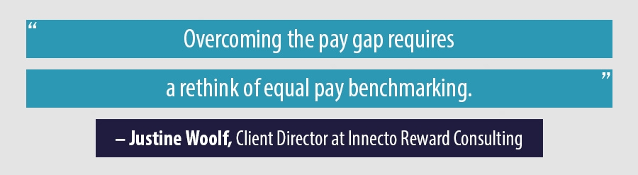 Overcoming the pay gap requires a rethink of equal pay benchmarking.