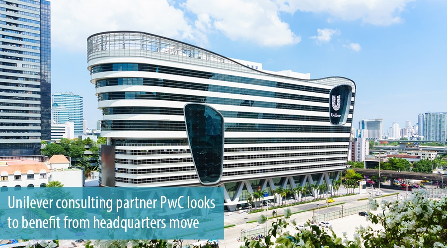 Unilever consulting partner PwC looks to benefit from headquarters move