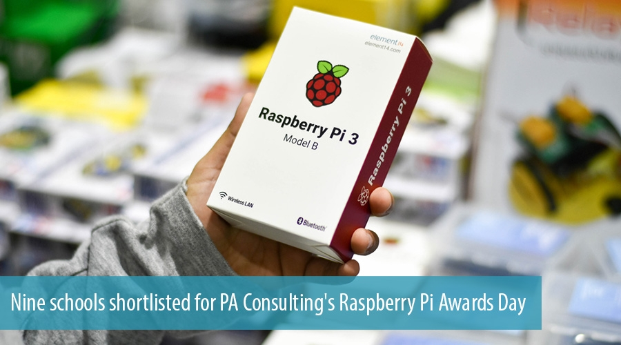 Nine schools shortlisted for PA Consulting's Raspberry Pi Awards Day
