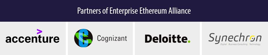 Partners of Enterprise Ethereum Alliance