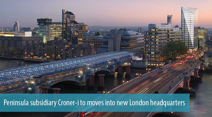 Peninsula subsidiary Croner-i to move into new London headquarters