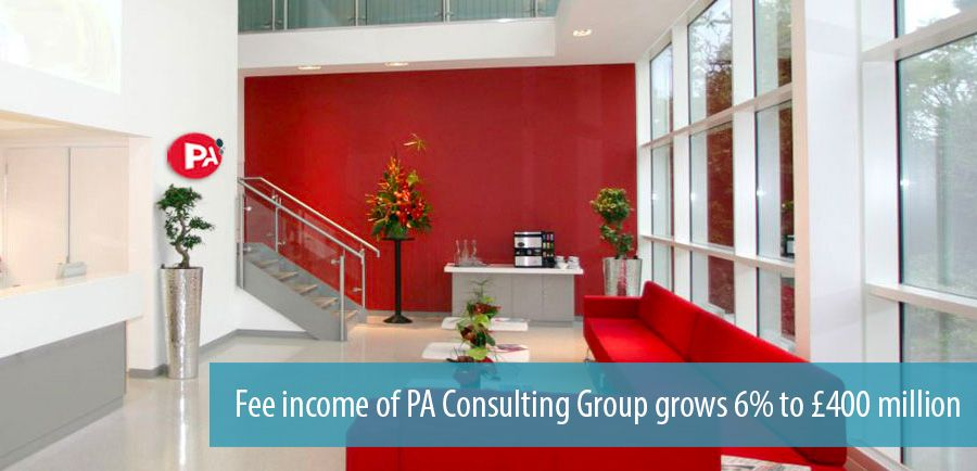 Fee income of PA Consulting Group grows 6% to £400 million